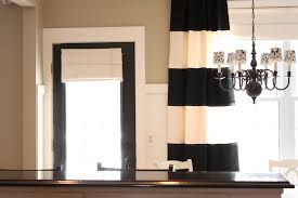 Decorations:Excellent Home Interior Desig With Beautiful Pendant Chandelier  And Black White Stripped Curtain Decor