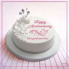 Happy Wedding Anniversary Cake Images With Name The Galleries Of