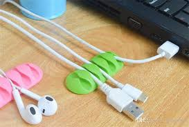 soft silicon cable drop clip desk tidy cable organizer wire cord usb charger cord holder organizer holder cable winder for phone phone accesories phone