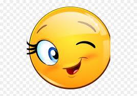 Smiley Wink Emoticon Flirting Clip Art Cute Emoji Happy Face