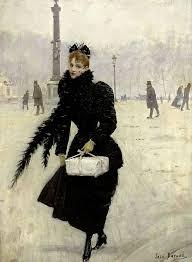painting by jean béraud parisienne place de la concorde 1890