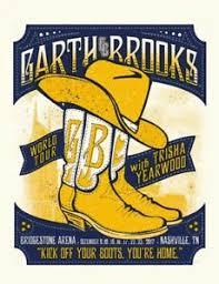 Garth Brooks Bridgestone Arena Seating Chart Details About Garth Brooks Bridgestone Show Print Nashville Tour Poster 2017 Trisha Yearwood 2