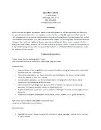 Dancer Resume Template 6 Free Word Documents Dance Teacher Download ...