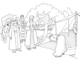 In addition, the kid is carried away and does not bother his mother while she does her business. Abraham And Lot Coloring Page Page 1 Line 17qq Com