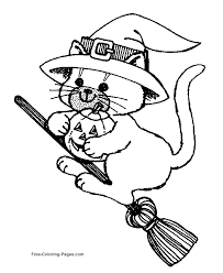 Small Picture Printable 25 Halloween Cat Coloring Pages 4847 Cute Halloween