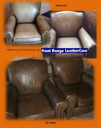 Leather Couch Restoration Total Apparel Care Denver Leather Furniture Restoration Before