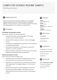 Example Of Computer Skills On Resumes Computer Science Resume Sample Writing Tips Resume Genius
