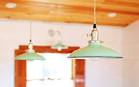 retro kitchen lighting. these american made porcelain pendant lights were customized with a 10u2033 shade putty cotton twist cord polished nickel socket knob switch retro kitchen lighting h