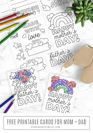 Printable father's day cards by canva. Free Printable Mothers Day Cards Fathers Day Cards