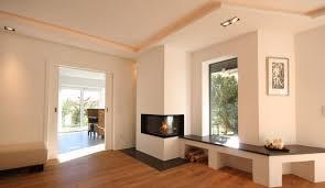 Heizkamin Mit Naturstein Bank Fireplace Moderner