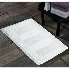 saffron handmade soft cotton reversible crochet lace border bath rug free on orders over