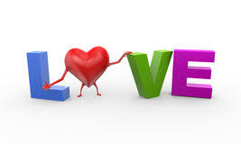 3d Heart Love Friendship Illustration Stock Illustration