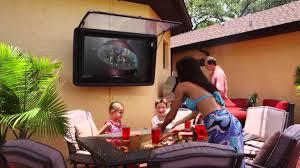 waterproof and vandal resistant outdoor tv enclosure