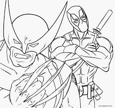 Small Picture Fashionable Ideas Wolverine Coloring Pages Deadpool And Wolverine