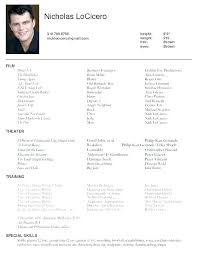Actors Resume Examples Latest Resume Examples Actors Resume Sample