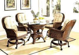 dining room chairs with casters 3 and arms
