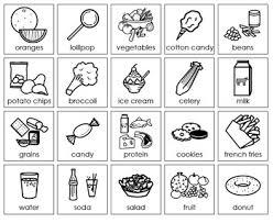 Nutrition Food Choices Healthy Unhealthy Good Bad Cutpaste Food Sort