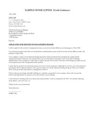 Resume Letter Application Letter Sample For Fresh Graduate Information 50