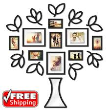 19 piece picture photo frame set open leaf tree collage wall art home decor gift home garden home d cor frames ebay  on tree photo collage wall art with 19 piece picture photo frame set open leaf tree collage wall art