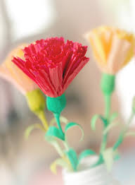Paper Carnation Flower Diy Paper Flowers To Brighten Your Home Kin