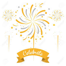 Firework Celebrations And Congratulations Icon Vector Illustration