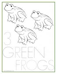 Small Picture Numbers Coloring Sheets 1 5