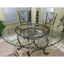 Kitchen Table Glass Top Cramco J9811 4 Wescot Round Glass Top Dining Table Kitchen Table