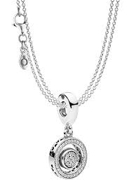 pandora 08591 necklace with charm pendant logo image 1