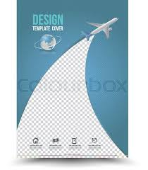 business report cover page template cover page layout template with paper airplane vector