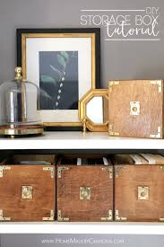 Diy Storage Diy Campaign Style Storage Boxes Home Made By Carmona