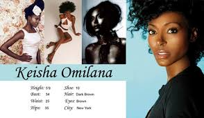 what is a comp card keisha omilana comp card stacks magazine
