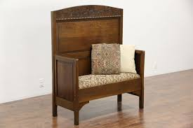 church foyer furniture. Bench Antique Chair Vintage Wood With Back Entryway Dresser Church Small Mudroom Old Fashioned Wooden Foyer Furniture O
