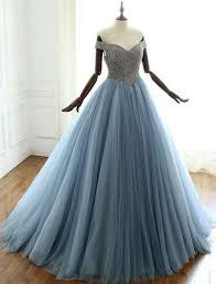 Prom Dress Color Chart Blue V Neck Beads Long Prom Dress Blue Evening Dress From