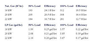 Propane Generator Fuel Usage Khesht Co