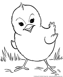Farm Animal Coloring Pages Spring Baby Chick Coloring Page And