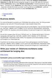 Oklahoma Workmans Comp Entitlement For Bulging Disc Pdf