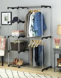 closet whitmor closet organizer double rod freestanding closet instructions home design double rod freestanding closet