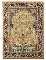 kerman laver tree of life design silk pile carpet