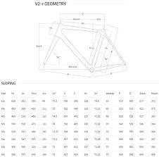 Colnago V2 R Size Chart And Geometry Geometry Diagram Sports