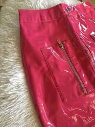 brand new never worn hot pink leather skirt size m
