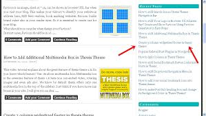 Customize Wordpress Thesis Sidebar Widget with Background     Video Thesis Theme Tutorials Before