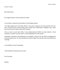 Cover Letter Sample For Email Profesional Resume Template