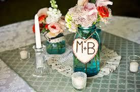 Blue Mason Jars Wedding Decor Vintage blue mason jars centerpiece Wedding Ideas Pinterest 14
