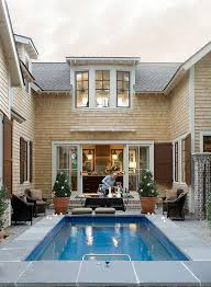 awesome u shaped house plans with pool in middle