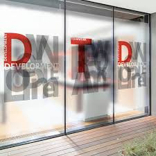 office glass windows. Free Size Custom-make Stained Glass Window Film Privacy Static Cling Alphabet Printed For Office Windows