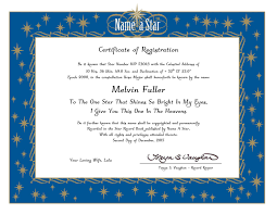 Name A Star Certificate Template Certificate Of Honour Template Copy Name A Star Buy A Star Original 1