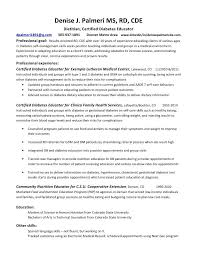 Entry Level Dietitian Resume Examples