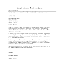 Good Interview Thank You Letter Example For Gallery Assistant