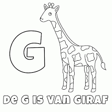 Kleurplaat Giraf Tropicalweather