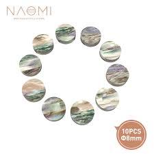 <b>NAOMI 10 PCS Guitar</b> Dots 8mm Abalone Inlay Guitar Dots Inlay for ...
